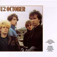 U2 - October. Cd cover