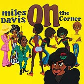 On the corner cd cover.